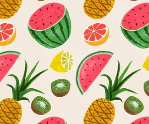 fruit, pineapple, and wallpaper image