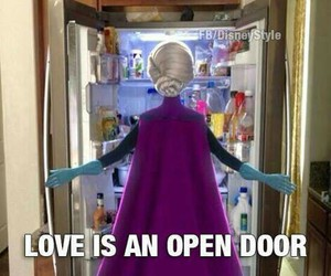 love, frozen, and food image