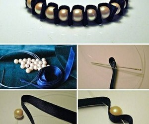 bracelet, diy, and pearls image