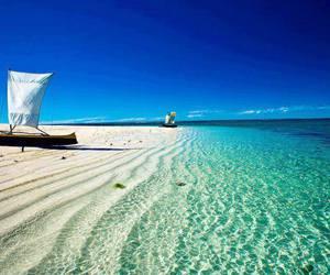 beach, sea, and madagascar image