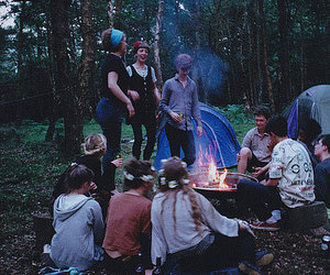 friends, indie, and hipster image