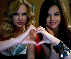Taylor Swift, selena gomez, and heart image