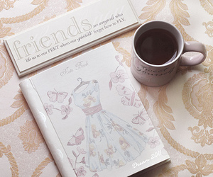 coffee, friends, and vintage image