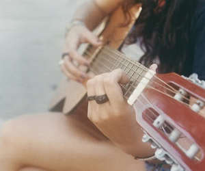 guitar, photograph, and love image