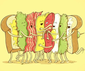 food, sandwich, and funny image