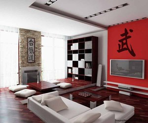 brown, japanese, and living room image