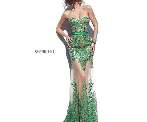 dress, green, and Hot image