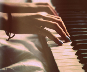 hand, music, and piano image