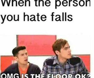 funny, hate, and floor image