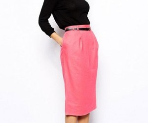 fashion, pencil skirt, and work wear image