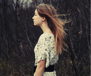 girl and woods image