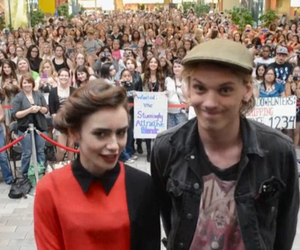 jamie campbell and lily collins image