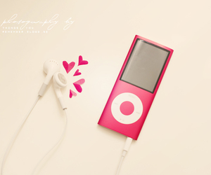 hearts, music, and pink image