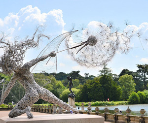 sculpture, art, and fairy image