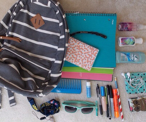 school, backpack, and notebook image