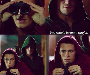 arrow, green, and hood image