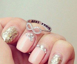 nails, ring, and infinity image