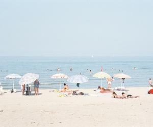 beach, nice, and people image