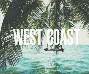 summer, west coast, and beach image