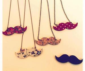 moustache, necklace, and mustache image