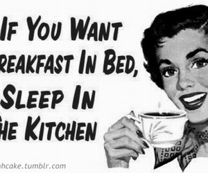 breakfast, funny, and kitchen image