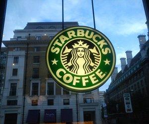 london, starbucks, and starbucks coffe image