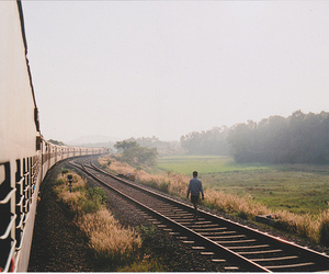 train, nature, and photography image