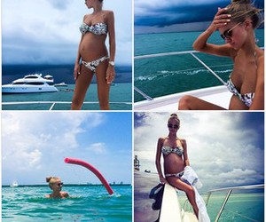 baby, beach, and bikini image
