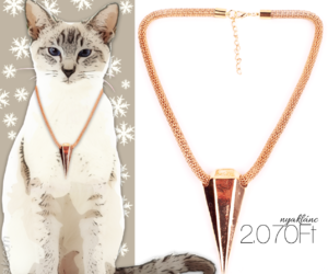 gold, necklace, and nyaklánc image