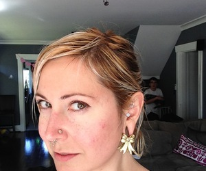 body modification, earrings, and stretched ears image