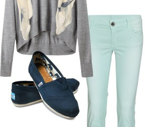 outfit, clothes, and toms image