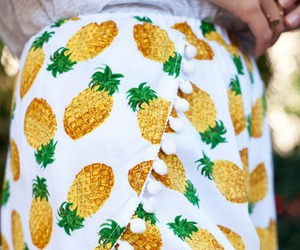 fashion, pineapple, and shorts image