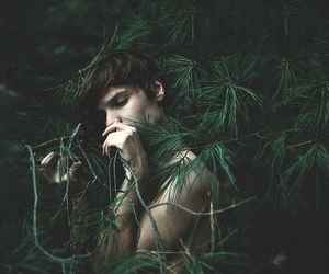 boy and green image