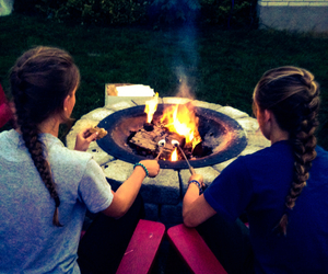 bonfire, bestfriends, and braids image