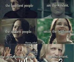 hunger games, wise, and lonely image