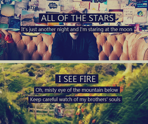 ed sheeran, i see fire, and all of the stars image