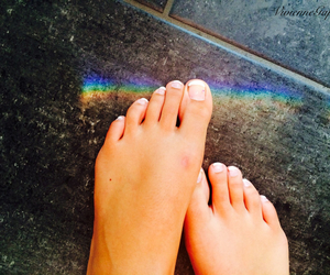 foot and rainbow image