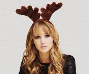 Jennifer Lawrence, christmas, and reindeer image