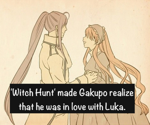 vocaloid, witch hunt, and luka image