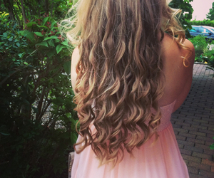 curly, hair, and rosa image