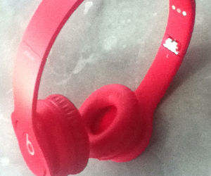 cool, headphone, and red image