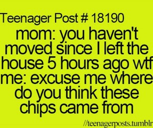 teenager post, chips, and funny image