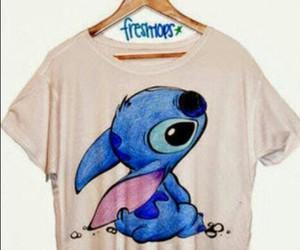 stitch, blue, and shirt image