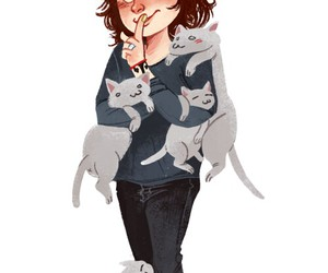 Harry Styles, one direction, and cat image