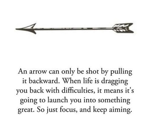 arrow, quotes, and life image