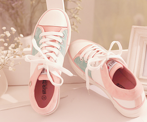 girly, trainers, and love image