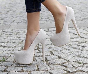 adorable, heels, and white image