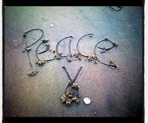 beach, iphone, and peace image