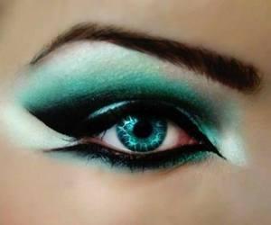 eyebrow, green, and make-up image