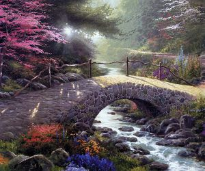 art, bridges, and artwork image